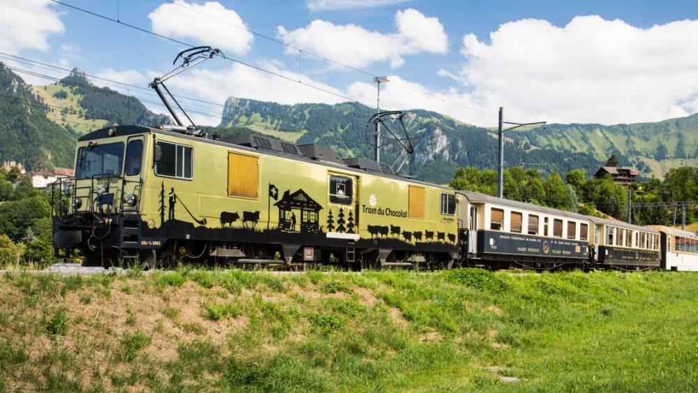 Шоколадный поезд из Монтрё