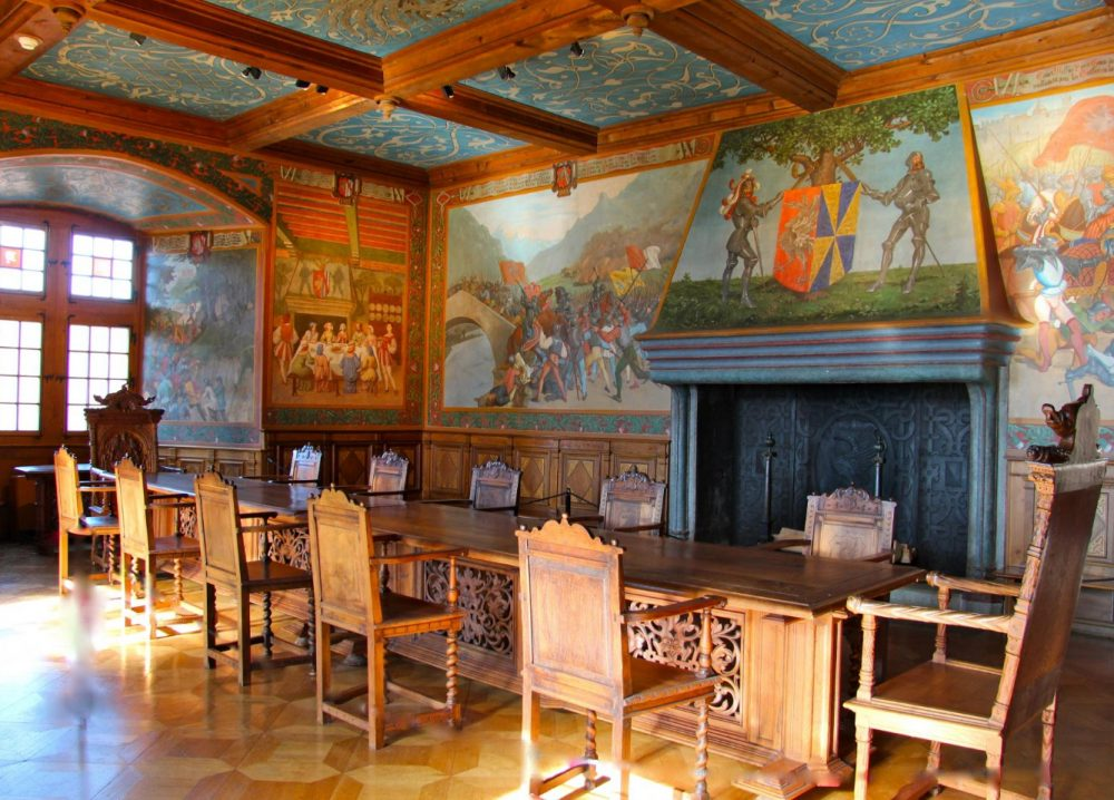 Графский зал замка Грюйер
