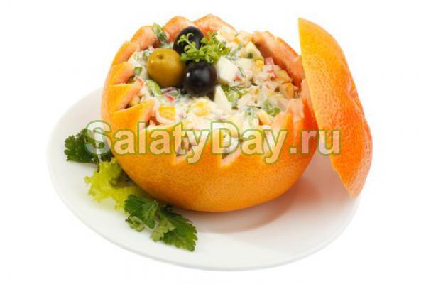 Салат «Апельсиновый рай»