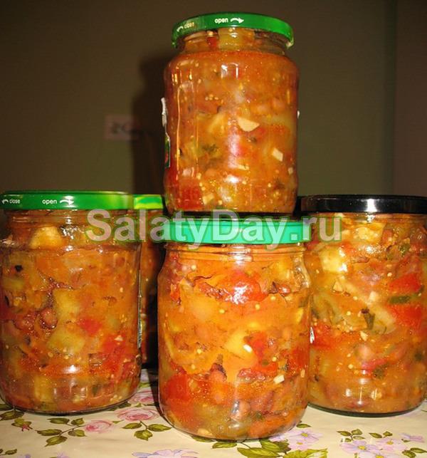 Салат с перловкой и кабачками