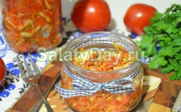 Салат с перловкой и томатами