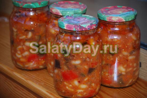 Салат из перловки со скумбрией