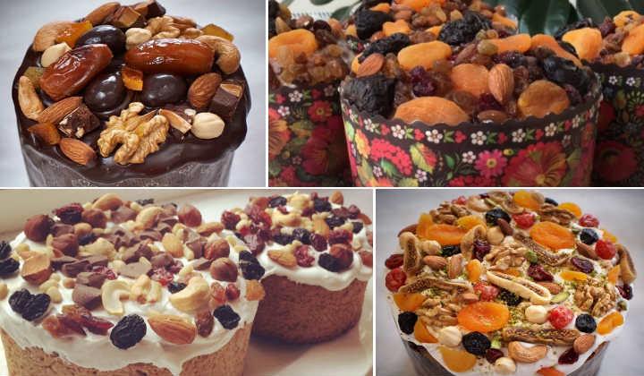 коллаж орехи и сухофрукты