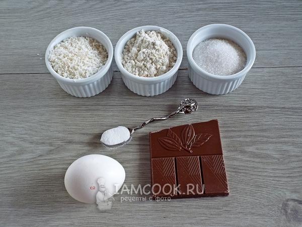 Ингредиенты для печенья с кокосовой стружкой