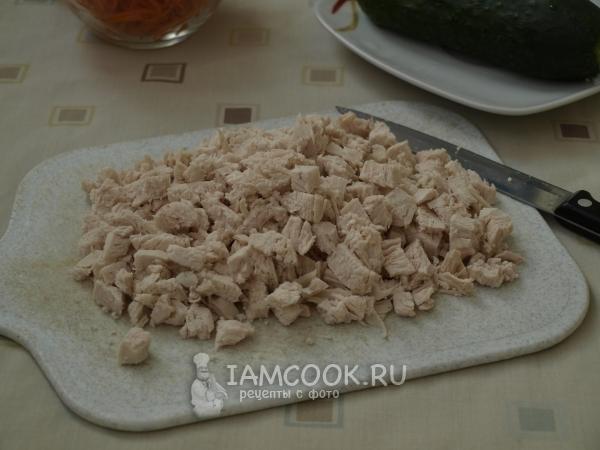 Порезать куриное филе
