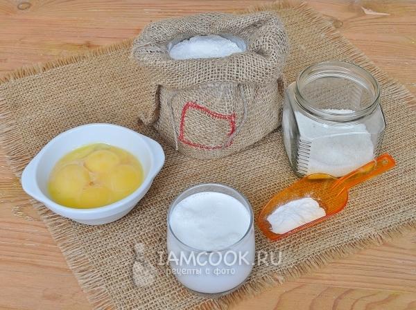Ингредиенты для домашнего сливочного печенья