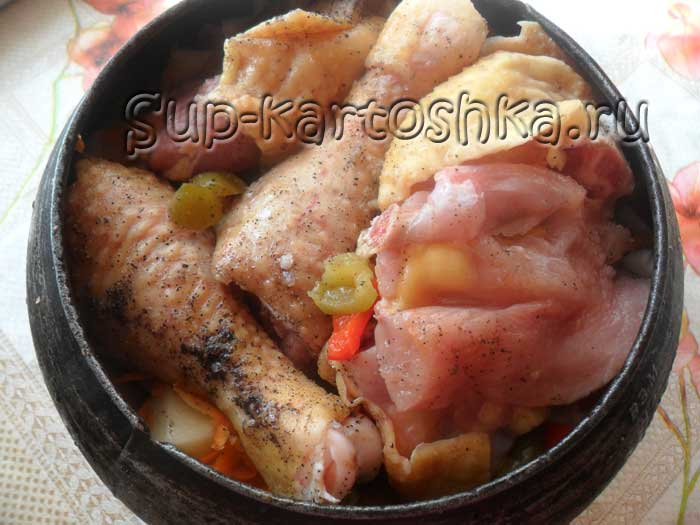 мясо и овощи готовы для дальнейшего приготовления