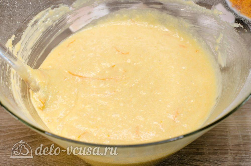 Апельсиновый кекс с пропиткой: Хорошо перемешать тесто