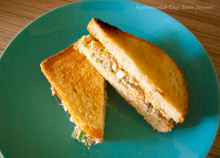 Клаб сэндвич с тунцом и яйцом. Пошаговый рецепт с фото. Кулинарный блог Вики Лепинг