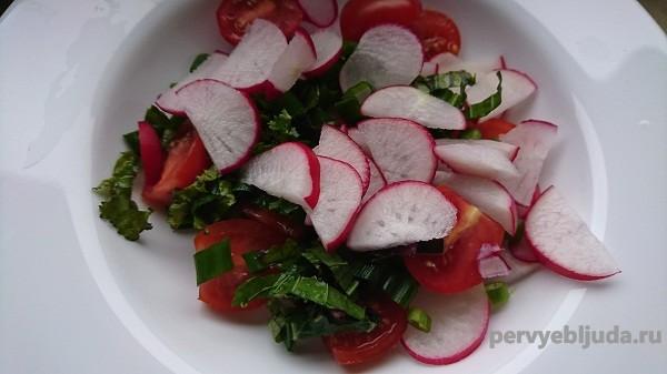 делаем салат из редиса