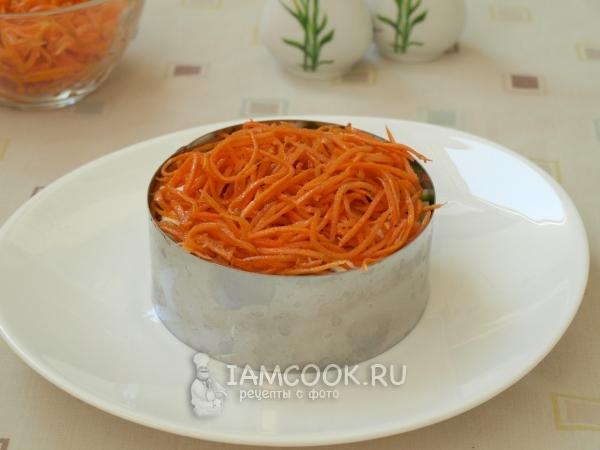Положить морковь по-корейски