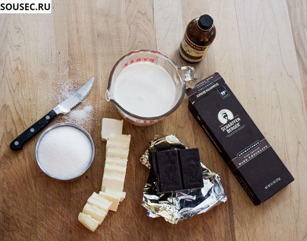 ингредиенты для шоколадного соуса