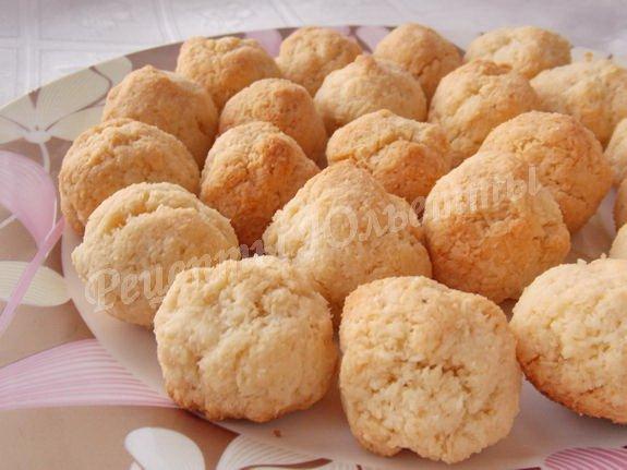простое кокосовое печенье