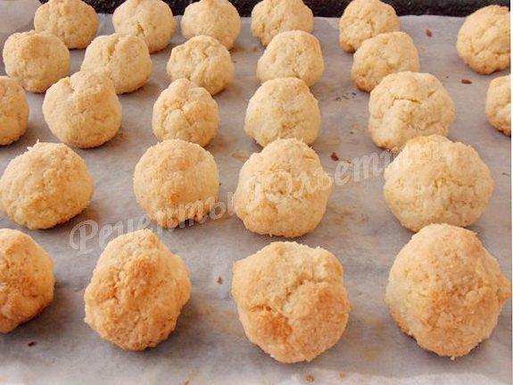 рецепт домашнего кокосового печенья