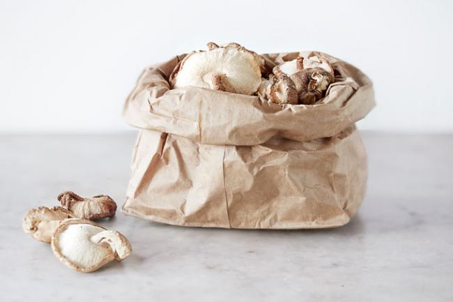 грибы в пакете