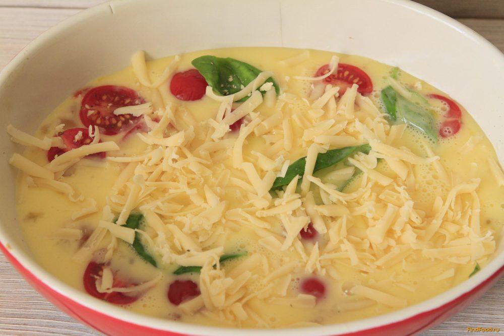 Омлет с помидорами и базиликом рецепт с фото 7-го шага