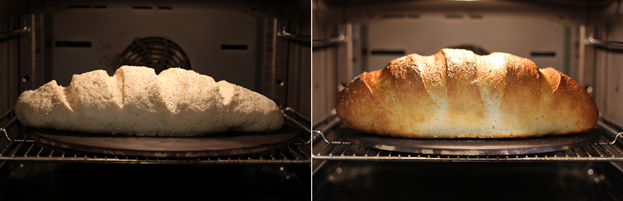 Хлеб на камне в духовке