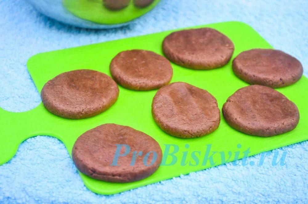 шоколадное печенье в микроволновке