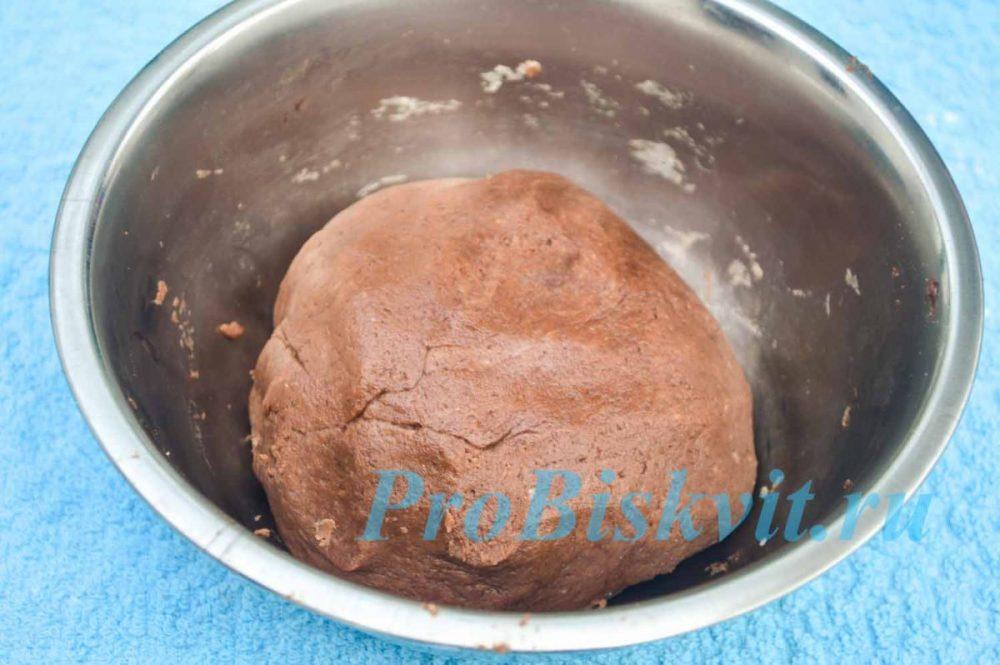 тесто для шоколадного печенья за 5 минут