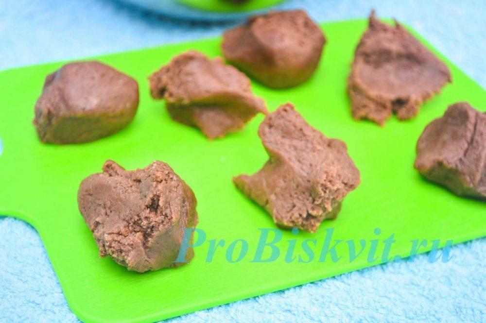 песочное быстрое печенье в микроволновке