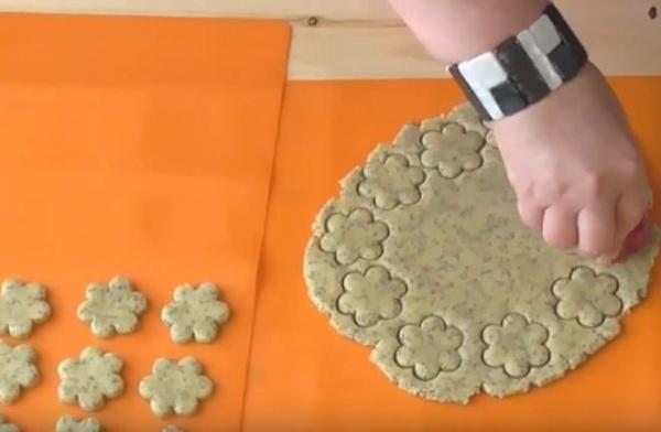песочное печенье 5 формируем печенье