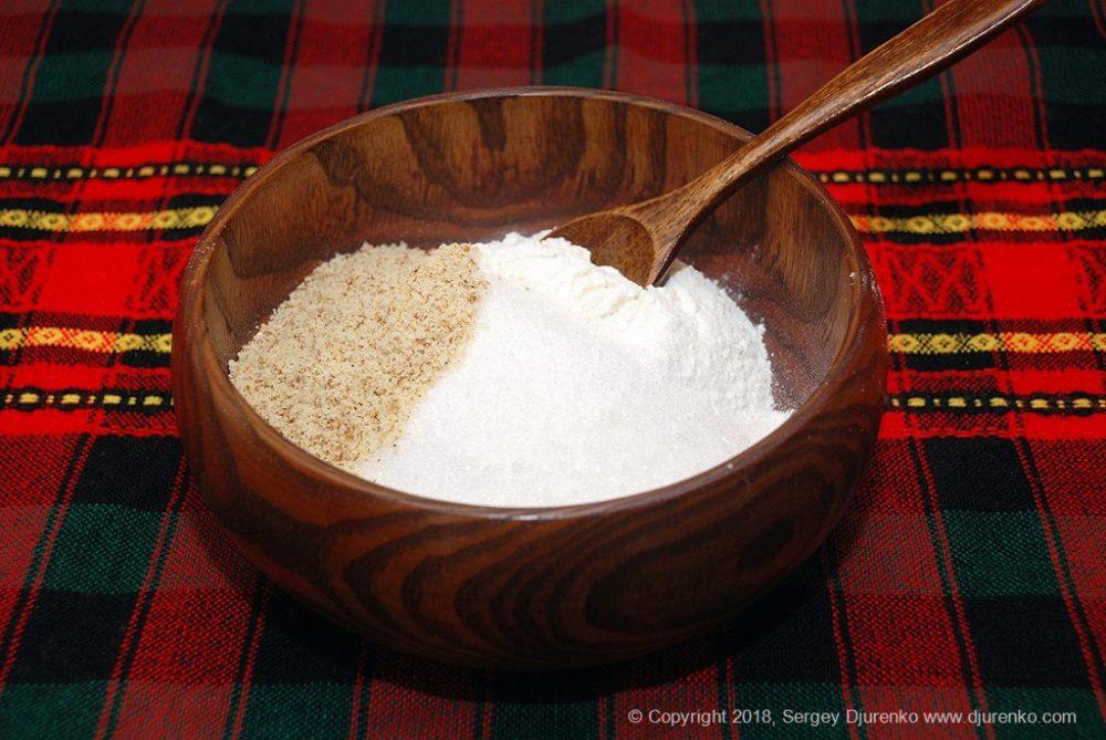 Как приготовить Домашнее песочное печенье. Шаг 3: мучная смесь для печенья