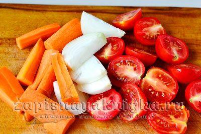 Подготовить овощи для икры