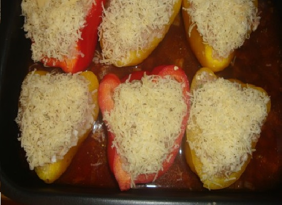 Перцы с сыром