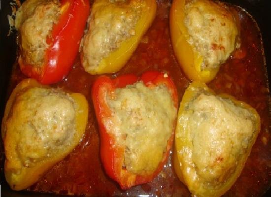 Перец с сыром в духовке