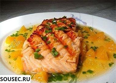 рыба в апельсиновом соусе фото