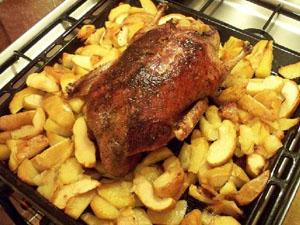 Индоутка с картошкой