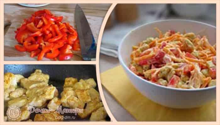 салат-с-корейской-морковью-и-курицей