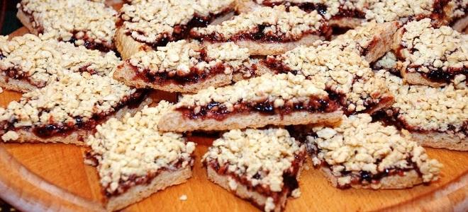 тертое печенье с вареньем на майонезе