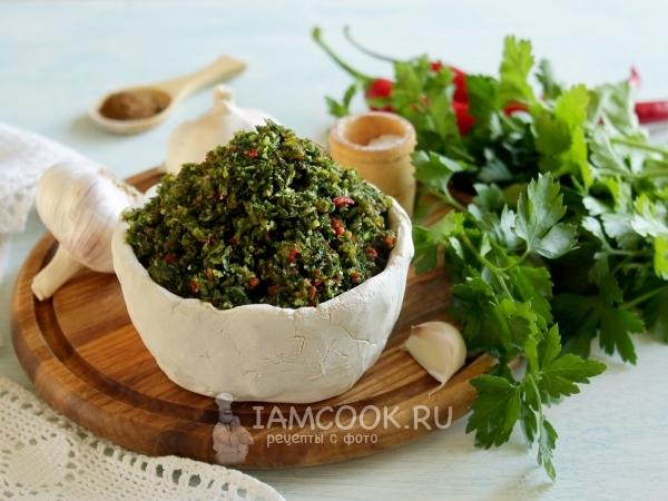 Аджика из петрушки — рецепт с фото пошагово