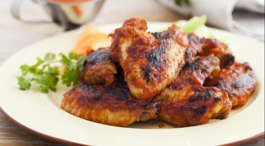 куриные крылья с соевым соусом