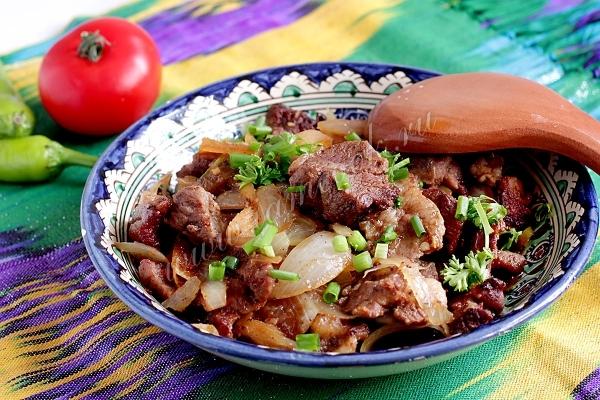 Рецепт баранины жареной по-узбекски