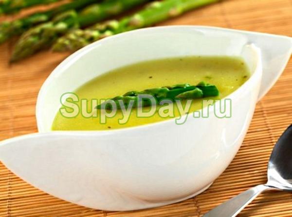 Суп из сельдерея для похудения со спаржей