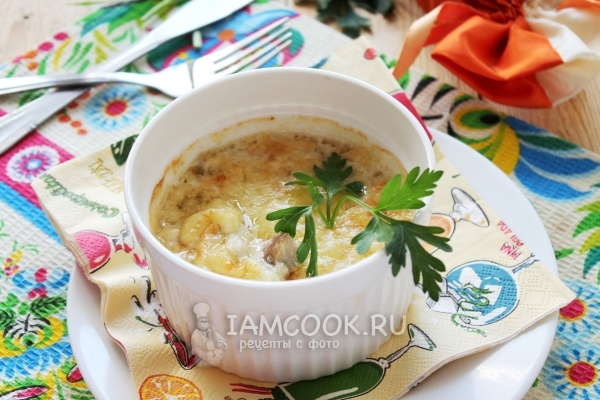 Рецепт жульена из белых грибов