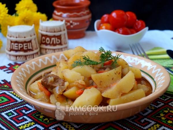 Фото тушеной телятины с картошкой