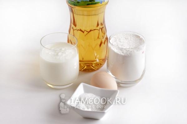 Ингредиенты для баурсаков без дрожжей