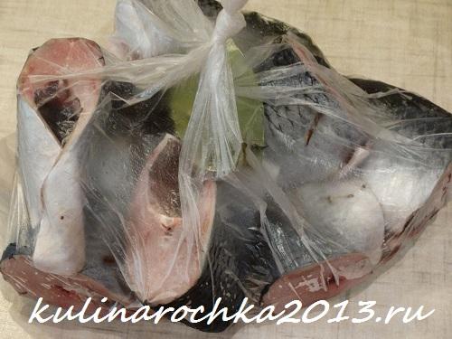 сельдь свежемороженная с пряностями в пакете