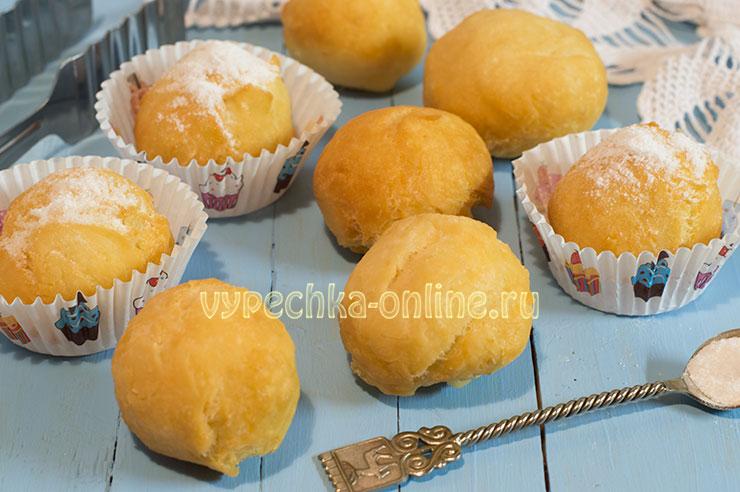 Творожные пончики во фритюре