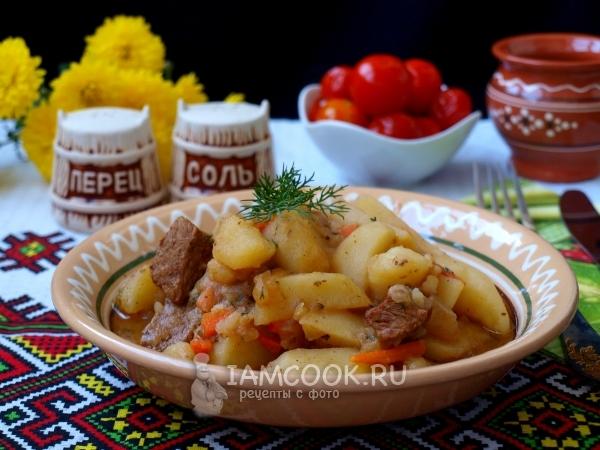 Рецепт тушеной телятины с картошкой
