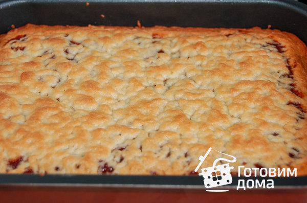 Домашний песочный пирог с вареньем фото к рецепту 4