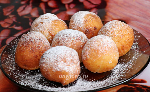 Пончики из творога жареные в масле на сковороде