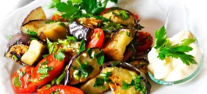 грузинский салат с баклажанами и помидорами