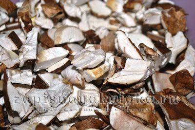 Очищенные белые грибы