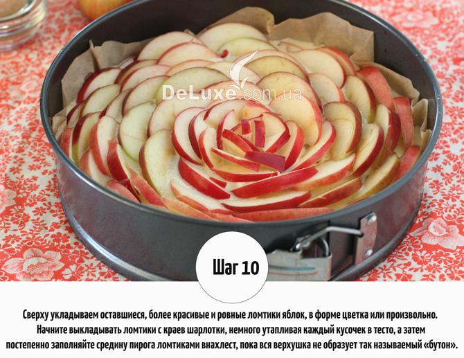 Шарлотка с яблоками и корицей Рецепт Фото 10