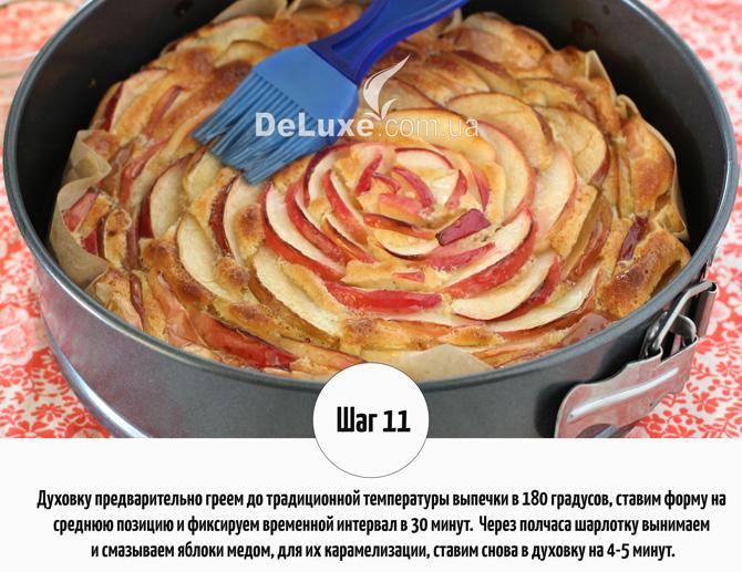 Шарлотка с яблоками и корицей Рецепт Фото 11