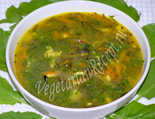 суп из щавеля без мяса - рецепт с фото